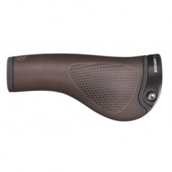 ERGON GRIP GP 1 BIOLEDER BROWN (czarna obejma)