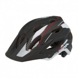ALPINA KASK CARAPAX BLACK-WHITE-RED 53-57