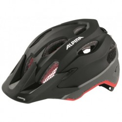 ALPINA KASK CARAPAX JUNIOR FLASH BLACK-RED-DARKSILVER 51-56