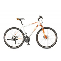 Rower KTM LIFE ROAD 27 DISC H black matt (orange+marseilleblue)