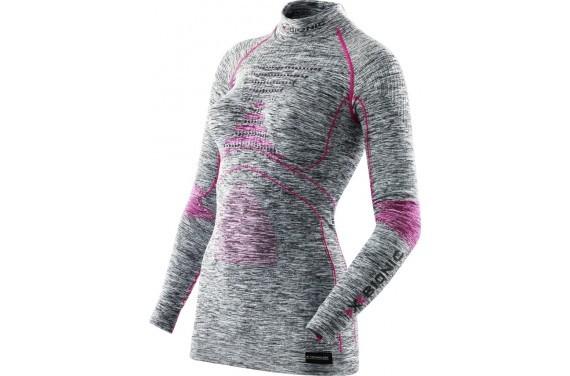Koszulka damska z golfem X-Bionic ACC_EVO MELANGE
