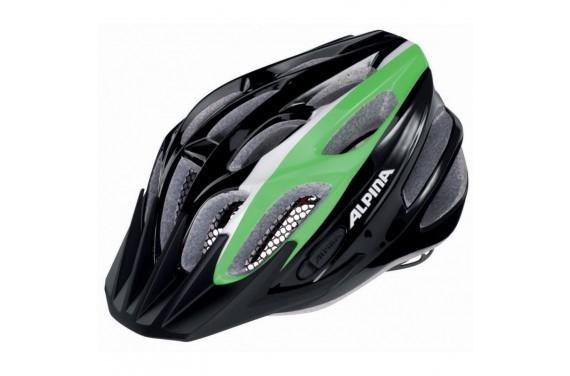 ALPINA KASK FB JUNIOR 2.0  FLASH BLACK-GREEN-WHITE 50-55