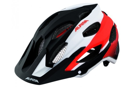 ALPINA KASK CARAPAX BLACK-WHITE-NEON-RED 53-57