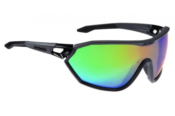 ALPINA OKULARY S-WAY VLM+ kolor COAL MATT BLACK szkło RAINBOW MIRROR S1-4 FOGSTOP HYDROPHOB