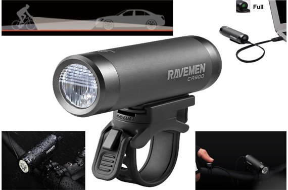 Lampa Ravemen CR-300 LED 300 Lm Li-ion USB Pilot