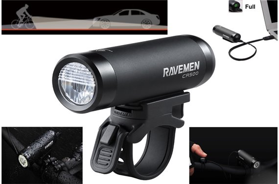Lampa Ravemen CR-500 LED 500 Lm Li-ion USB Pilot