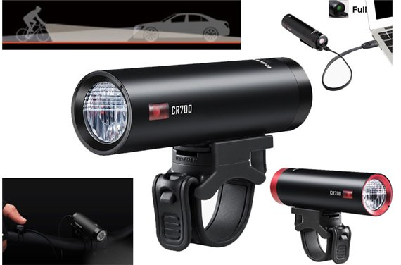 Lampa Ravemen CR-700 LED 700 Lm Li-ion USB Pilot