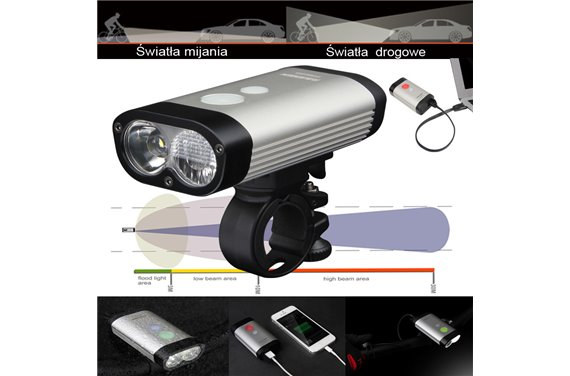 Lampa Ravemen PR-600 LED Dual 600 Lm Li-ion USB Pilot