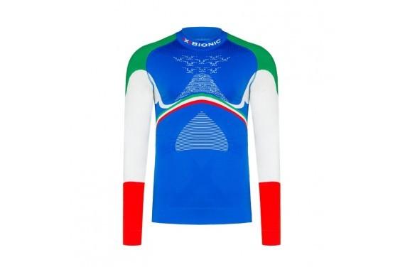 Koszulka z półgolfem męska X-Bionic ENERGY ACCUMULATOR 4.0 PATRIOT ITALY
