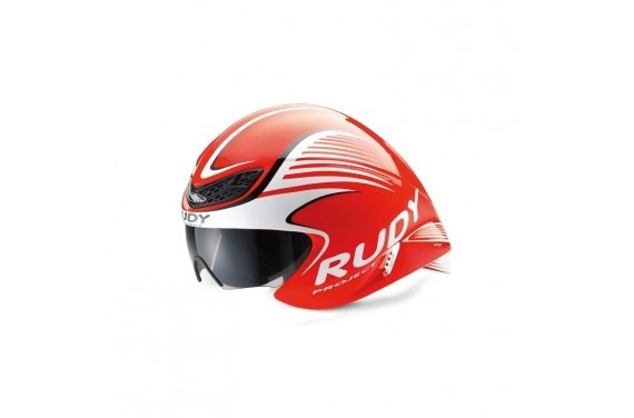 Kask RUDY PROJECT WING57 RED FLUO/WHITE SHINY