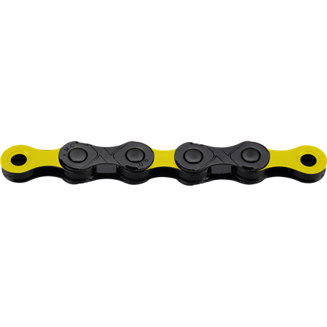 Łańcuch 12rz. KMC DLC 12 Bk/Yellow 126og. Box