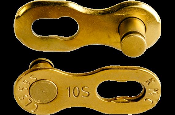 Złączka łańcucha KMC 10rz. Ti-N Gold Blister 2szt.