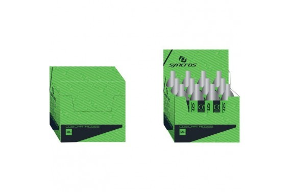Nabój Syncros CO2 cartridge 38g thread. PAK-12 sil