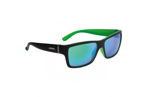 ALPINA OKULARY KACEY kolor BLACK MATT-GREEN szkło GREEN MIRROR